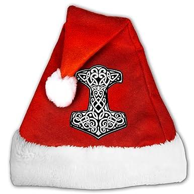 jydprov thors hammer viking norse christmas santa cap - Viking Christmas
