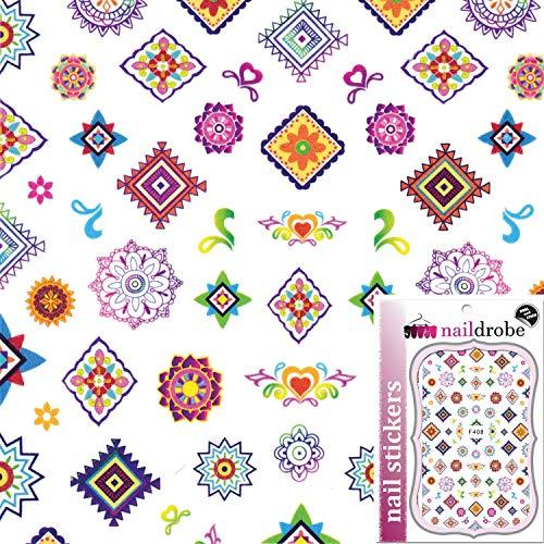 Naildrobe Mosaic Mandala Print Nail Stickers -