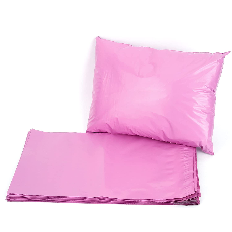 Surepromise Lot de 50 sacs postaux en plastique polyé thylè ne 14' x 19'(355mm x 485mm) rose