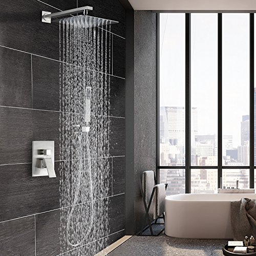 Esnbia Shower System Brushed Nickel Shower Faucet Set