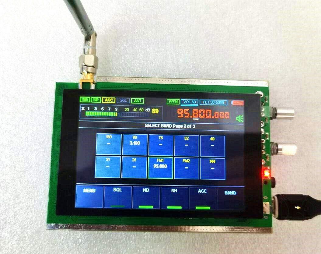 RIIAI 50k-200MHz Malachite Receiver SDR Software Radio DSP Noise Reduction Full Mode