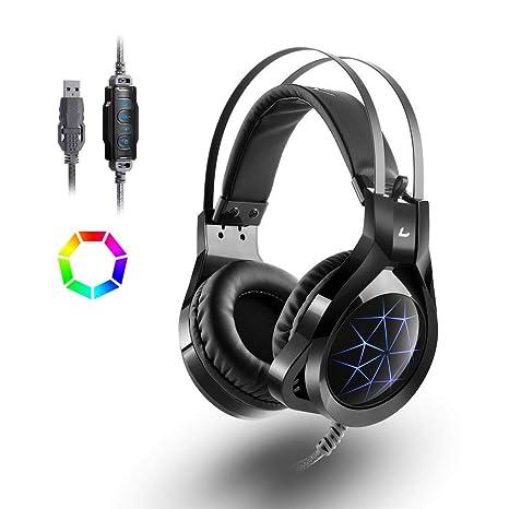 Auriculares Madgiga CT/CZ USB para gaming con cable con micrófono/con micrófono oculto