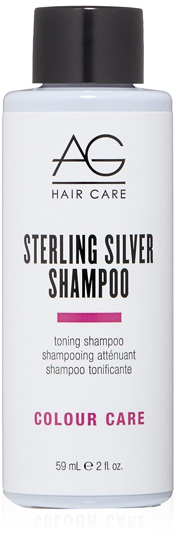 AG Hair Colour Care Sterling Silver Toning Shampoo, 2 Fl Oz