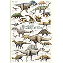 Eurographics 2450-0098 Dinosaurs of The Cretaceous Period Poster