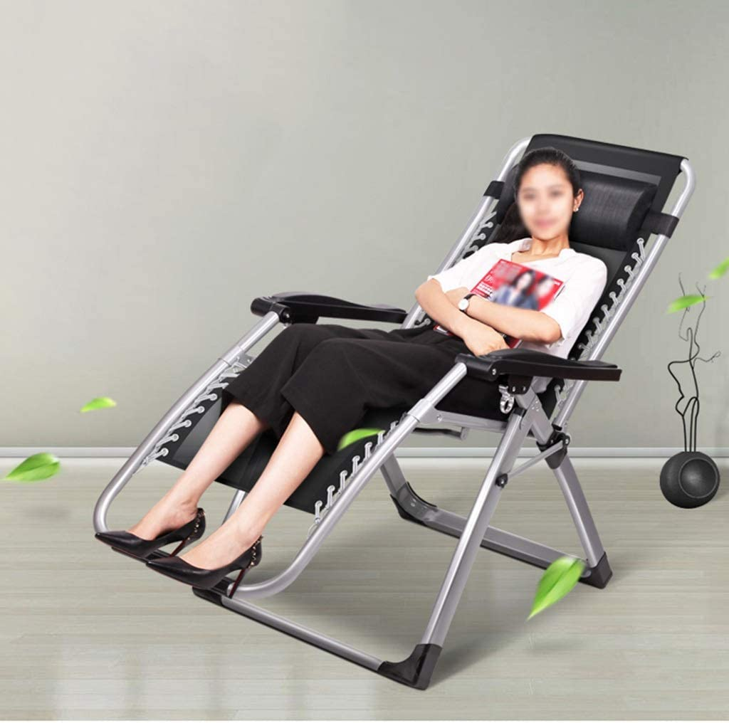 QFFL Zero Gravity Chair, Folding Deck Chair, Load-bearing 500kg/1102lbs, for Outdoor, Terrace, Garden, 4 Colors Available (Color : D) B