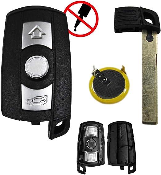 Konikon Autoschlüssel 3 Tasten Gehäuse Mit Lir2025 Batterie Passend Für Bmw E60 E87 E90 E91 E92