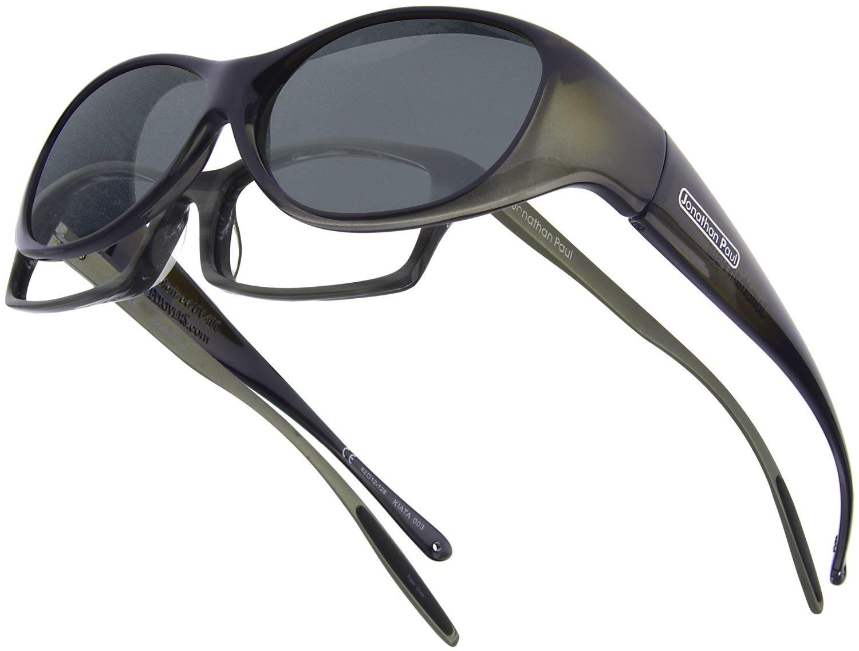 Fitovers Eyewear Kiata/Nagari Sunglasses (Olive Charcoal, Polarvue Gray)