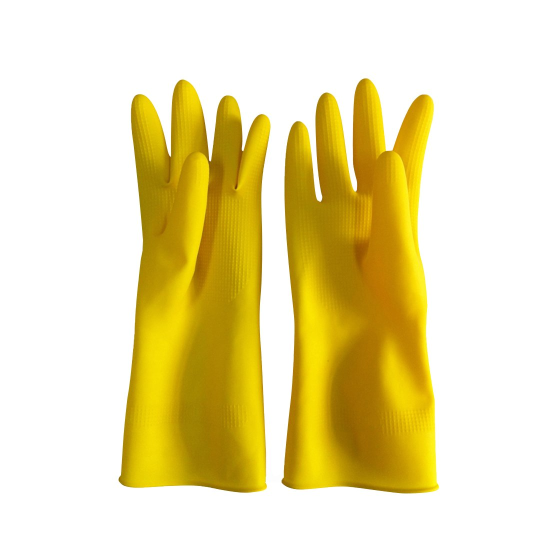 Riverbyland Waterproof And Yellow Rubber Gloves Pack of 10 Pairs