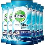 Dettol 滴露 大而结实的浴室湿纸巾,25片装(6件装)