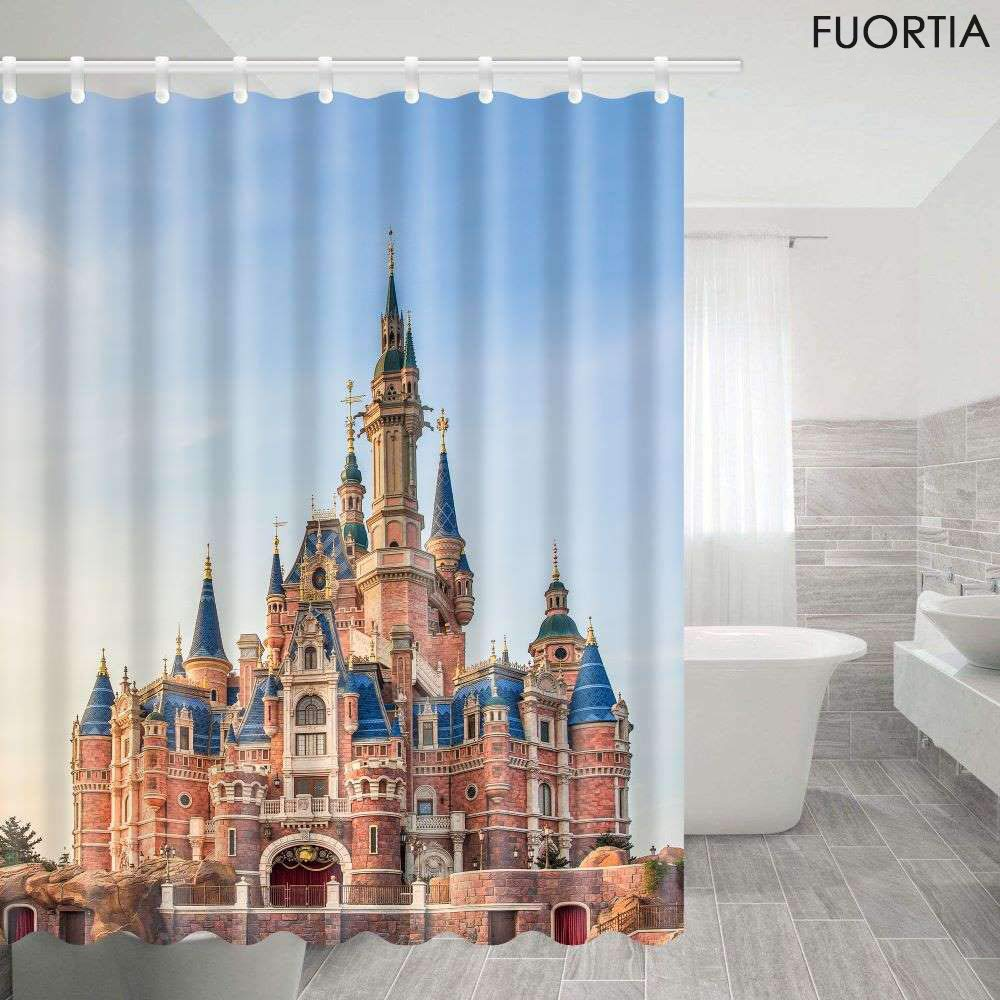 Rape Fuortia Shower Curtain Bath Room Fabric Shower Curtains 69X70inches Polyester Waterproof and mildewproof with Shower Room Landscape Country Road Leading to The Sea