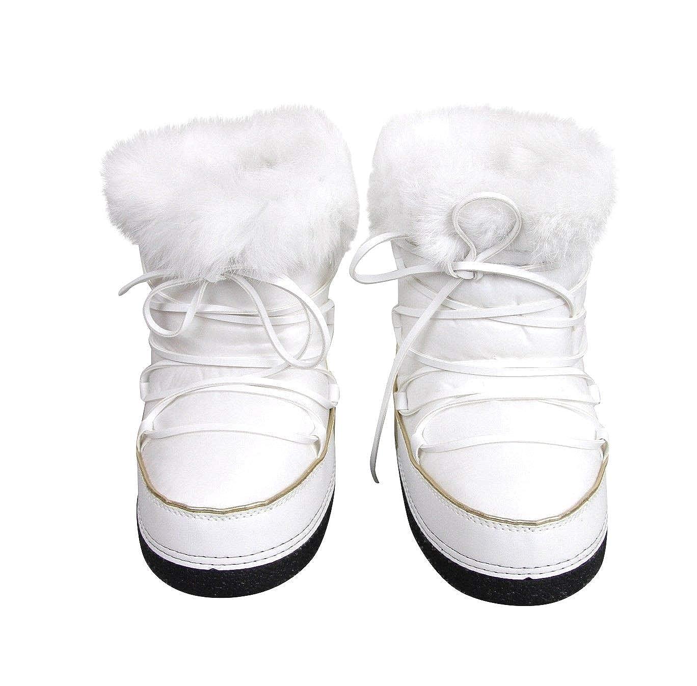 f55f5aeae Amazon.com | Gucci Unisex White Nylon Interlocking G Fur Trim Kids Boots  298368 | Boots