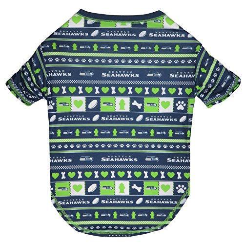 NFL Seattle Seahawks Dog Ugly Tee Shirt, X-Small. - Cutest Pet Tee Shirt for The Real Sporty pup