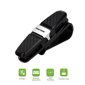 Portavasos para visera de coche, ONEVER gafas de sol de 180 grados para rotacion Portavasos con 2 clips, negro (1): Amazon.es: Coche y moto