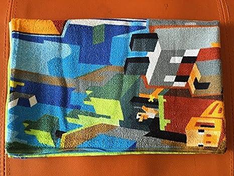 140 * 70 Minecraft niños toalla de baño toallas de playa de Algodón Cartoon: Amazon.es: Hogar