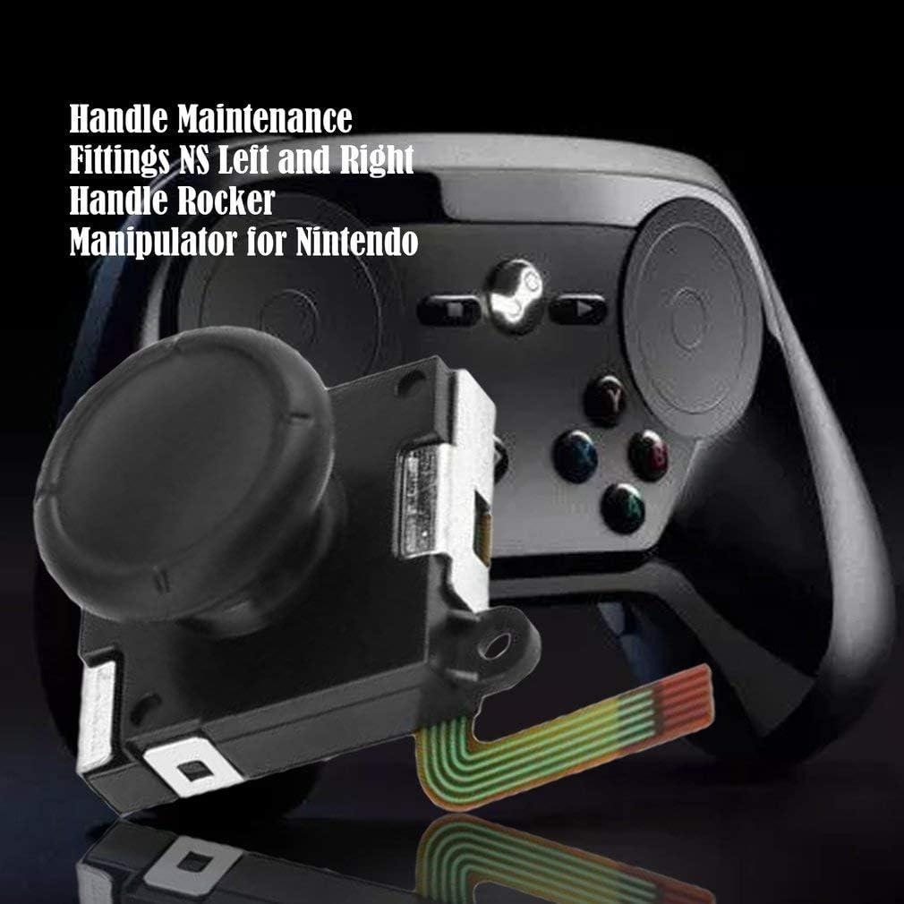 Kitechildheed pour Joystick Thumb pour Nintend Switch Joy-Con Contr/ôleur 3D Analog Stick Noir
