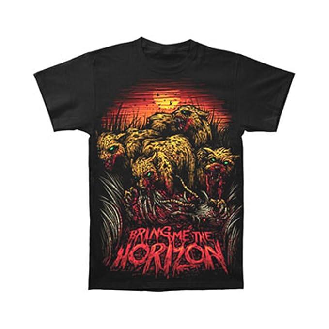 0419f2e07 Amazon.com: Bravado Bring Me The Horizon - Cheetah Adult T-Shirt ...