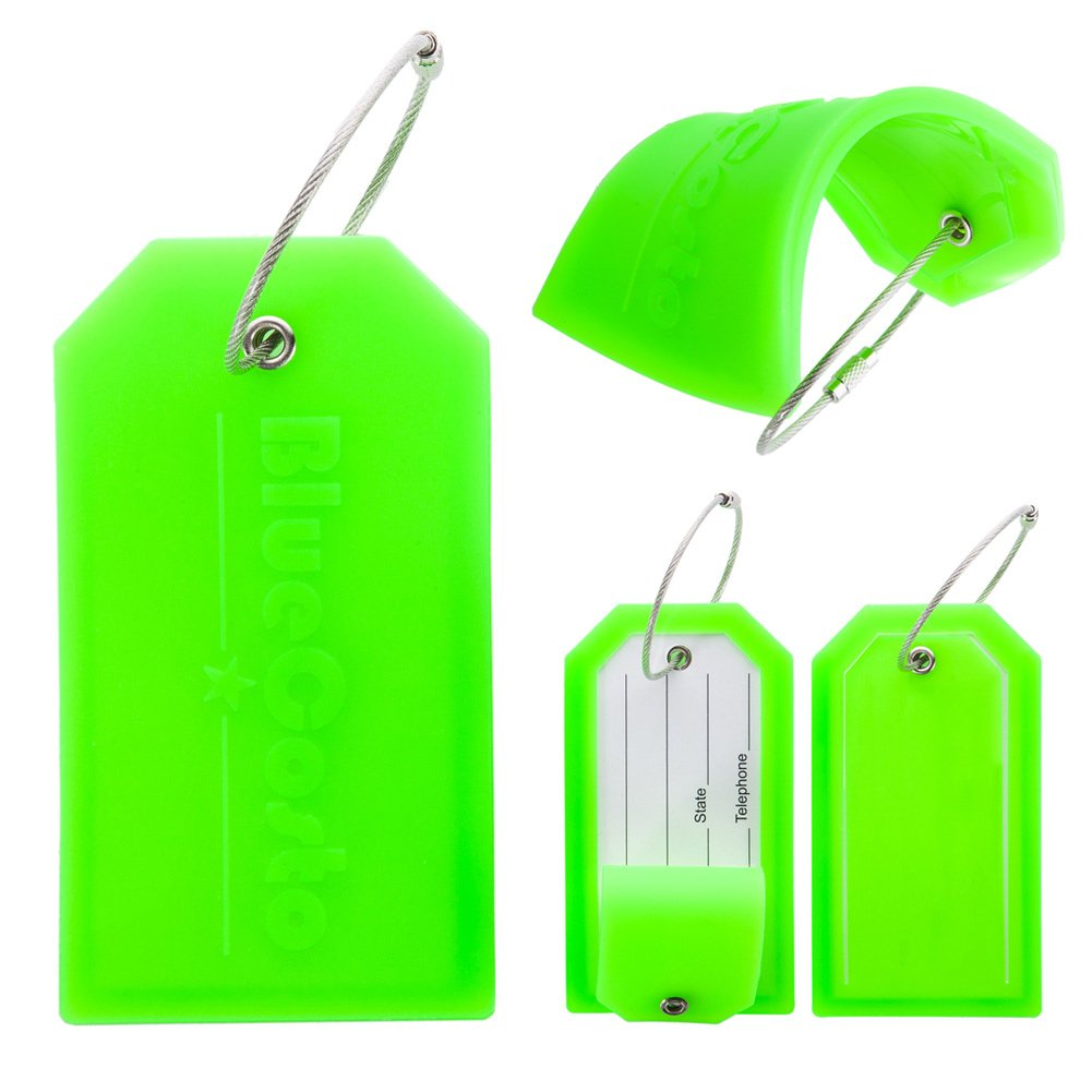 BlueCosto 2 Pack Luggage Tag Label Suitcase Tags Travel Bag Labels w//Privacy Cover