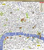 StreetSmart London Map by VanDam - City Street Map of London, England - Laminated folding pocket size city travel and Tube map with all museums, attractions, hotels and sights; 2018 Edition