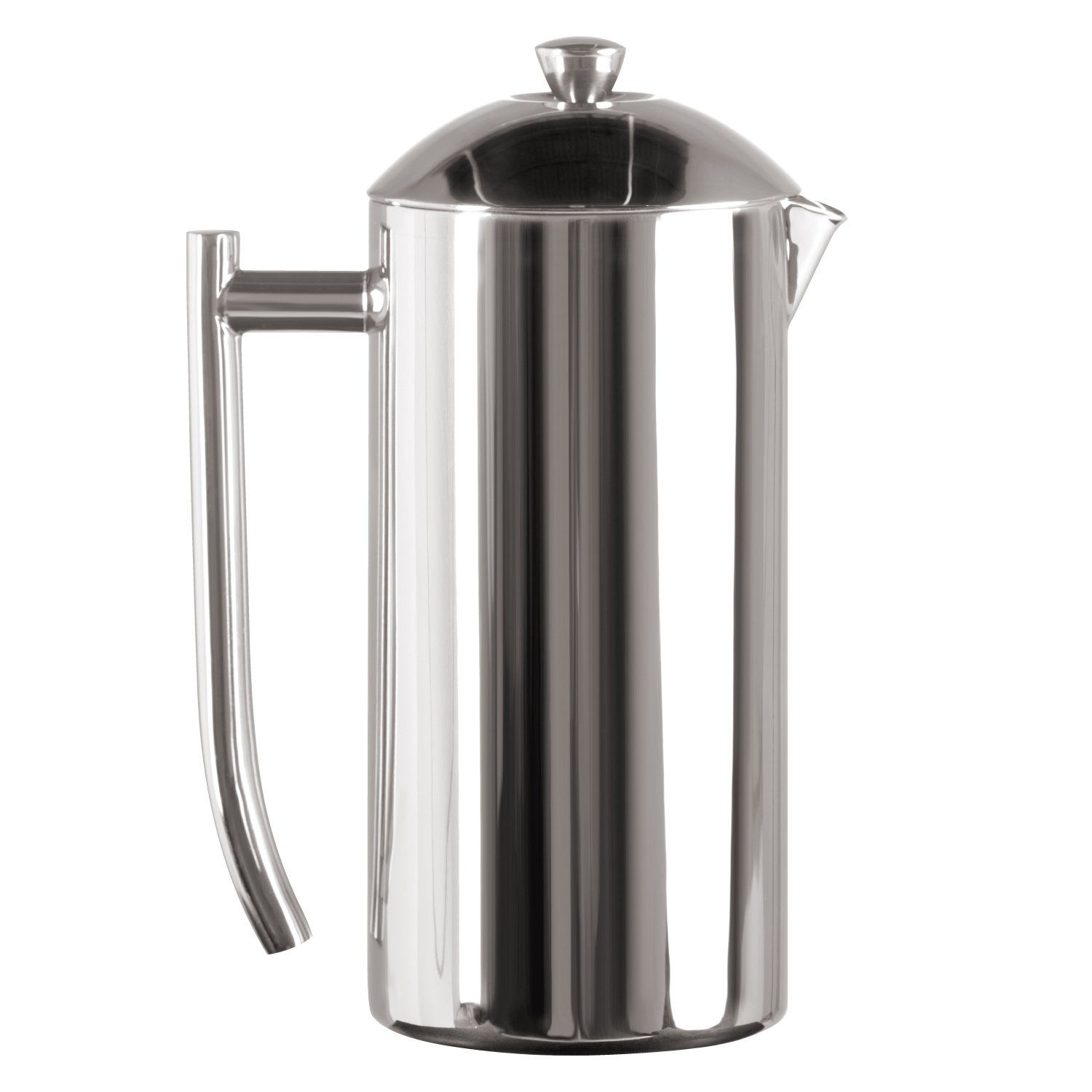 Frieling USA Double Wall Stainless Steel French Press Coffee Maker with Patented Dual Screen, Polished, 36-Ounce