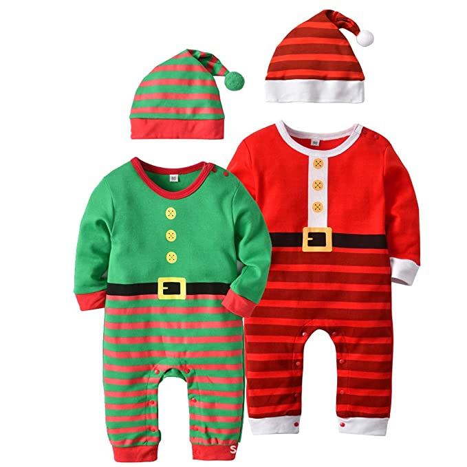 Amazon.com  Infant Christmas Santa Pajamas Romper Set Ugly Funny Baby Pjs  Sleepwear Jumpsuit  Clothing 027285580