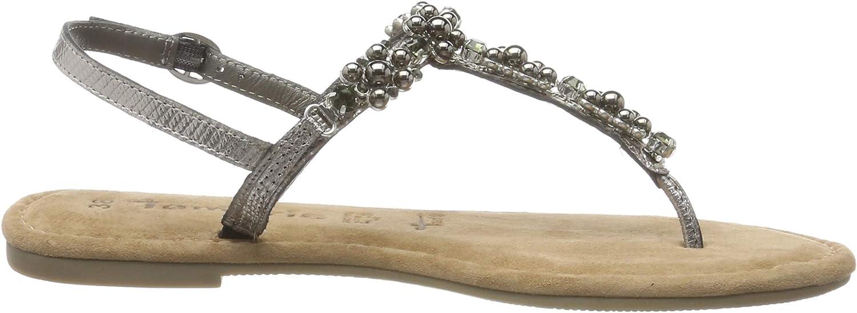 Tamaris 1-1-28152-22, Sandalia con Pulsera para Mujer Silber Pewter 915