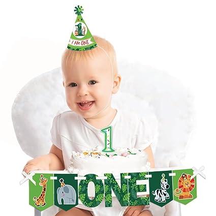Amazon Com Big Dot Of Happiness Jungle Party Animals 1st Birthday