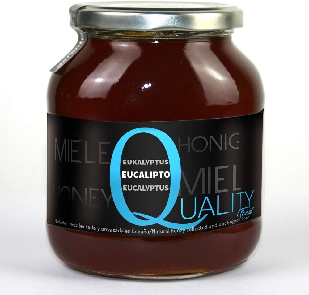Miel pura de abeja 100%. Miel cruda de Eucalipto. 1 Kg. Producida en España. Sin pasteurizar ni calentar. Artesana de alta calidad. Tarro de cristal. Gran variedad de exquisitos sabores.: Amazon.es: Alimentación