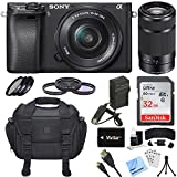 Cheap Sony Alpha a6300 ILCE-6300 4K Mirrorless Camera 16-50mm + 55-210mm Lens Bundle Includes a6300 Camera, 16-50mm + 55-210mm Zoom Lens, Filter Kits, 32GB SDHC Card, Beachcamera Cleaning Cloth and More!
