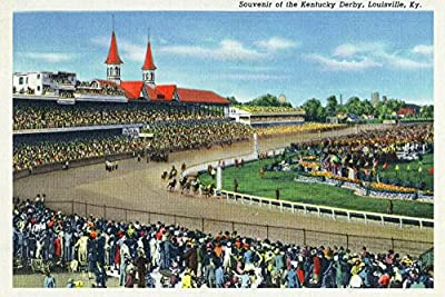 Louisville, Kentucky - Souvenir of the Kentucky Derby; Race Scene