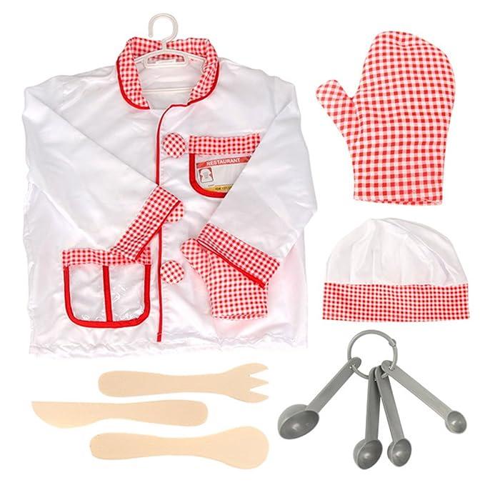 Amazon.com: TopTie Niños de disfraces de chef, cook función ...
