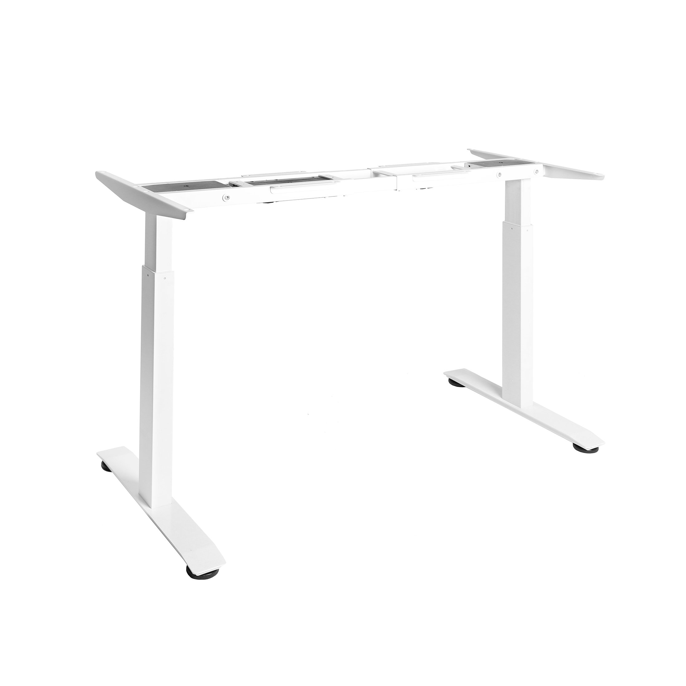 Seville Classics AIRLIFT S2 Electric Standing Desk Frame (Rises to 47.4'')/w 4 Memory Buttons LED Height Display - Base Only, Extends 45'' to 62.9'' W, 2-Section Base, Dual Motors, White