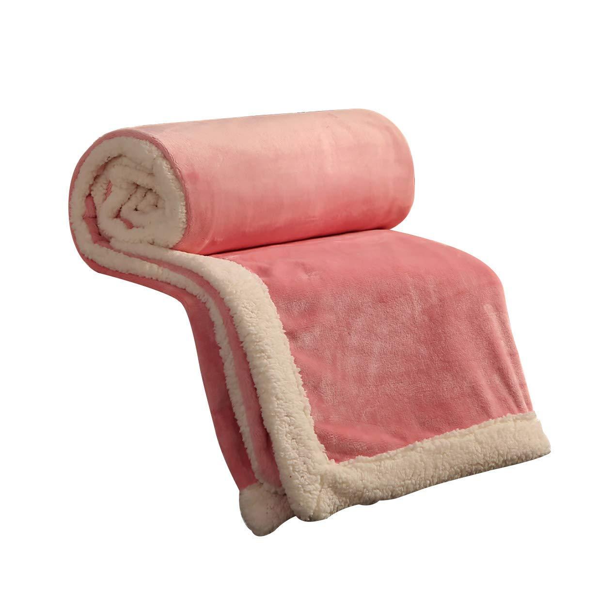 フェイクファー毛布フェイクファー、無地毛布学生寮女性冬厚いサンゴフリース毛布暖かいシートキルト(色:A、サイズ:150× 200 cm) B07QLKHPZK
