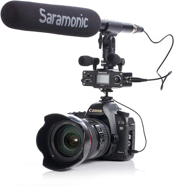 Saramonic SR-XM1 3,5 mm TRS micrófono omnidireccional Plug and Play Mic Compatible con cámaras DSLR videocámaras CaMixer SmartMixer LavMic SmartRig+ y ...