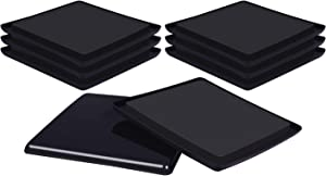 RCHYFEED 8PCS Reusable Furniture Slider, 5 Inch Square Furniture Slider, Moving Pads Heavy Duty Furniture Movers for Carpet, Black