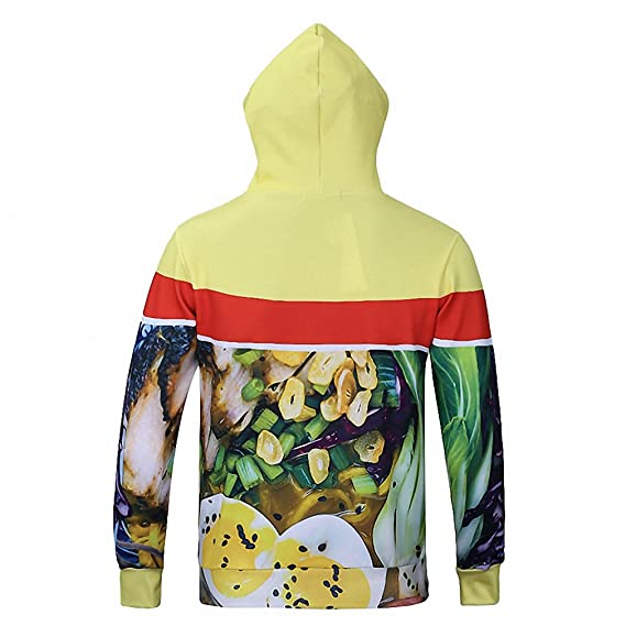 Harajuku Mens Sweatshirt Delicious Food Noodle Soup Ramen Print Hoodies 3D Sweatshirts Autumn Winter Sudaderas Homme J24 at Amazon Mens Clothing store: