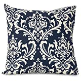 Majestic Home Goods Pillow, X-Large, French Quarter, Navy Blue