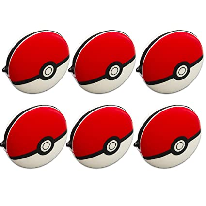 Pokemon Pokeball Silicone Pouch Party Favors Pack ~ Bundle of 6 Pokeball Treat Container Coin Purse Party Bag (Pokemon Party Supplies)