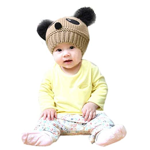 5430ba78f71 vestitiy Clearance! Cute Toddlers Baby Girls Boys Stretchy Warm Winter  Panda Cap Kids Knitted Hat