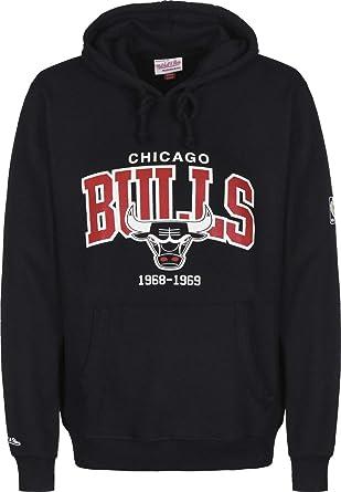 selezione migliore b74cb 02bf3 Mitchell & Ness Arch Logo Chicago Bulls Felpa: Amazon.it ...
