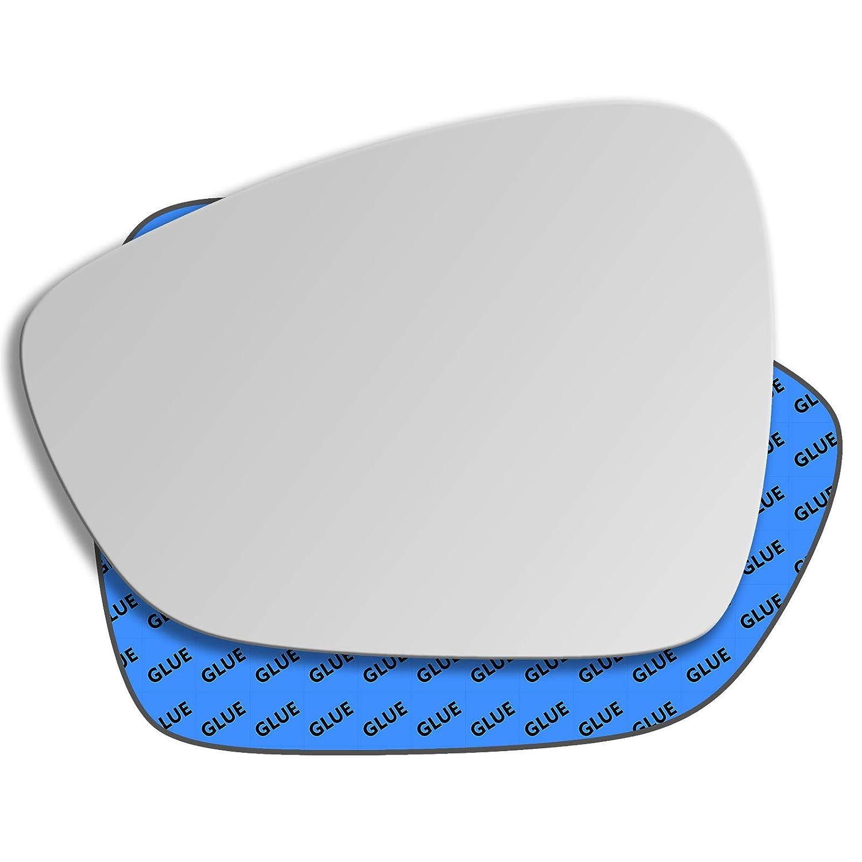 Left Hand Passenger Side Convex Mirror Glass Replacement For Citroen C3 Mk2 2010 - 2016, Citroen C4 Mk2 2010 - 2017, Citroen C4 Picasso Mk2 2013 - 2017, 345LS