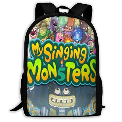 Unisex School Backpacks My S-ing-ing Mon-sters 3D Printed Large Capacity Casual Travel Bag: Clothing