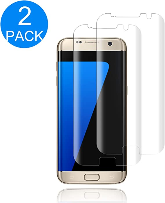 9H Hardness 3 Pack Galaxy S7 Screen Protector,WZS/® Bubble Free 3D-Curved Tempered Screen Protector for Samsung Galaxy S7 Anti-Fingerprint HD Screen Protector Film