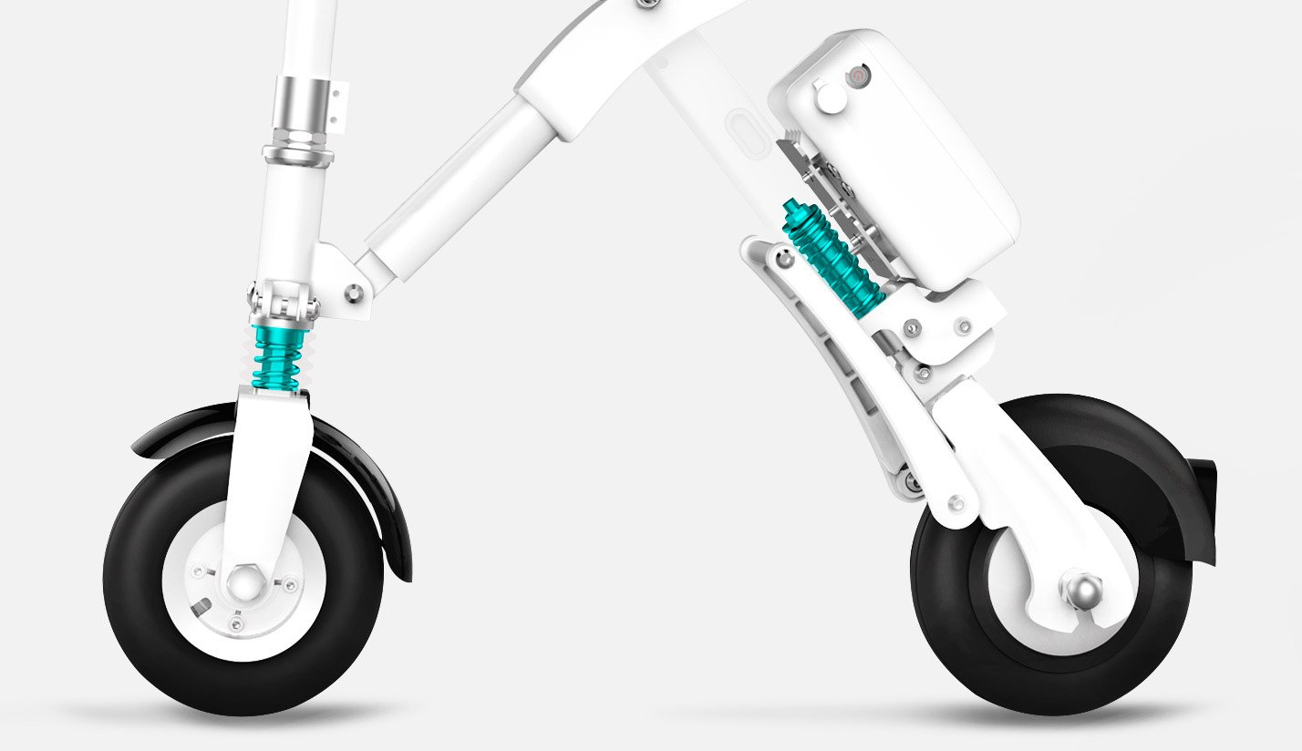 Run & Roll Bike X Bicicleta eléctrica Plegable, Hombre, Blanco, 8