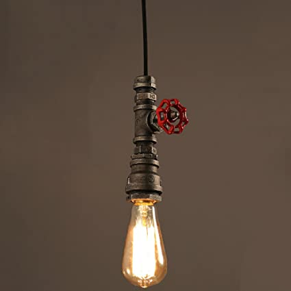 Vampsky Rústico Industrial Lámpara Colgante Vintage Lámpara ...