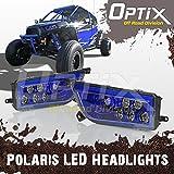 Optix 2015-2017 Polaris RZR 1000 XP Style Blue LED Headlight - Fits Polaris General and Polaris RZR