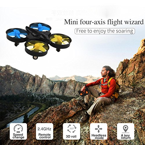 Livoty H36 Mini Drone 2.4Ghz 4CH 6-Axis GYRO RC Quadcopter Headless LED 360° Flips