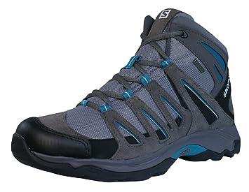 buy online f0d77 63c5f Salomon GREENPEAK MID GTX W Gray Blue Brown Women Hiking Shoes Contagrip  Gore-Tex