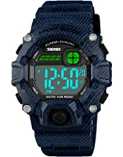 Boys Camouflage LED Sport Watch,Waterproof Digital Electronic Casual Military Wrist Kids Sports Watch With Silicone Band Luminous Alarm Stopwatch Watches …