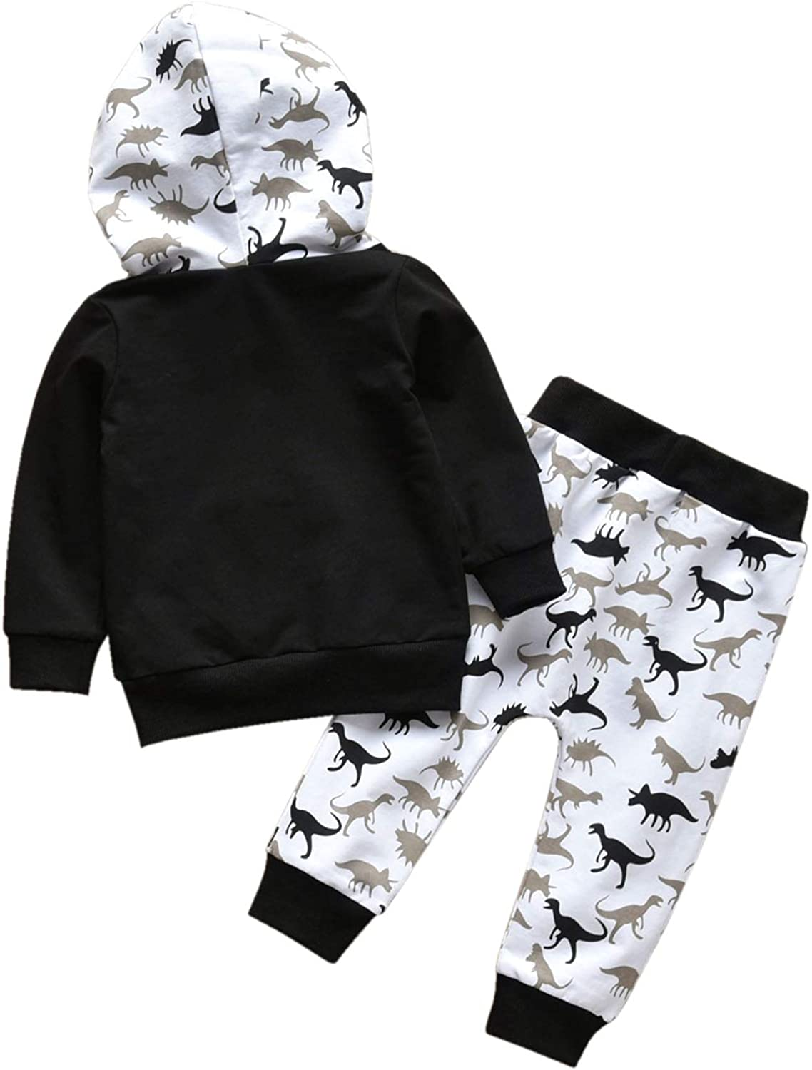 Toddler Infant Baby Boy Clothes Animal Style Long Sleeve Hoodie Tops Sweatsuit Pants Outfit Set