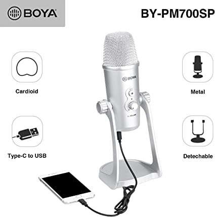 Amazon Com Boya By Pm700sp Usb Condenser Microphone For Ios